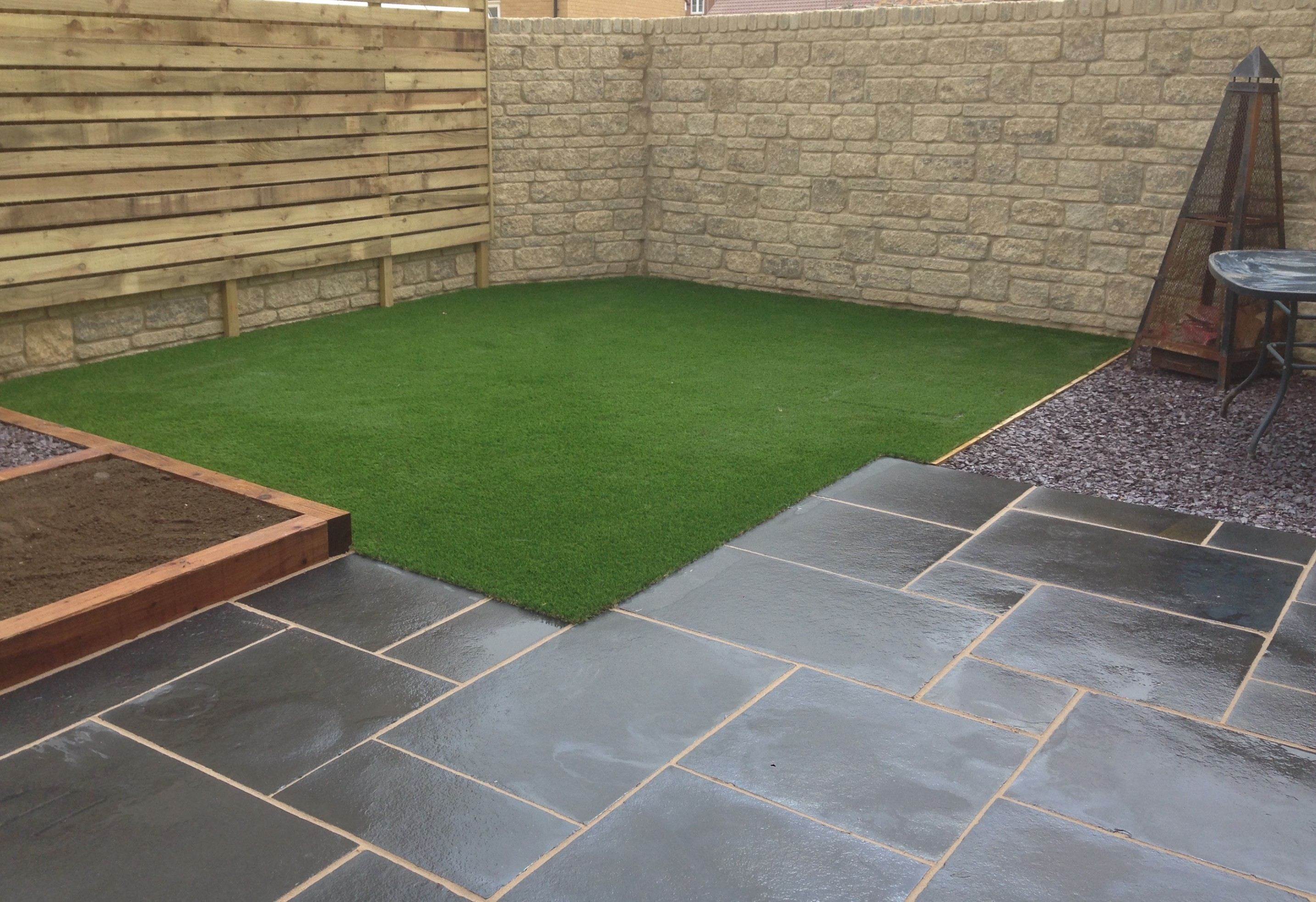 Artificial Grass Rear Garden