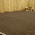 Garden prepped ready for artificial turf